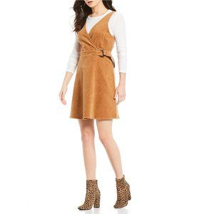 Copper Key NWT Faux Wrap Corduroy Belted Dress